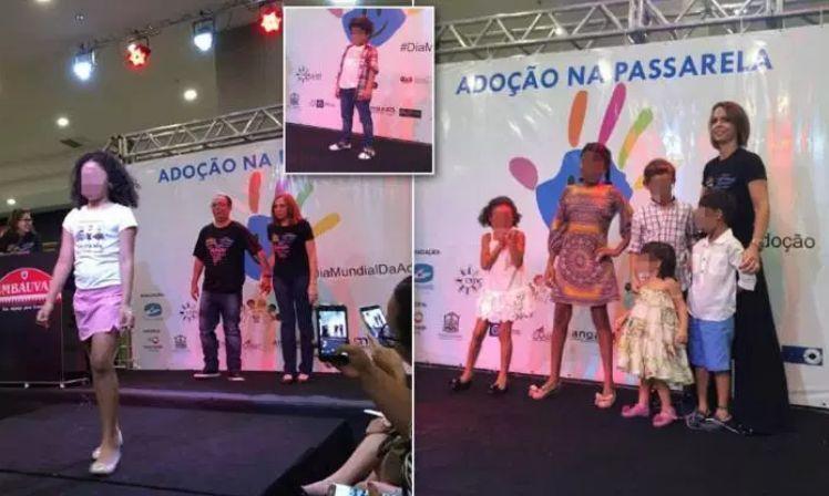 Fuss for 'animal market' adopted children on the catwalk Brazil