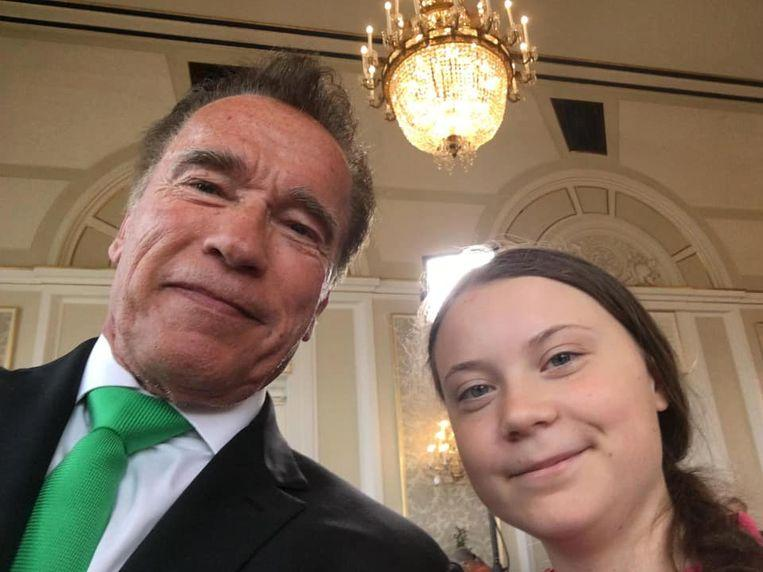 Arnold Schwarzenegger joins forces with Greta Thunberg