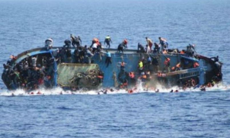 Dozens of rescued migrants clung to tuna cages in the Mediterranean