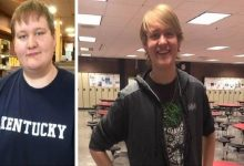 Michael (17) avoids the school bus and has lost 55 kilos while walking