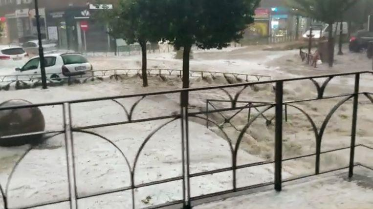 "Madrid environment hit by a fierce hailstorm: ""A flood never seen"""