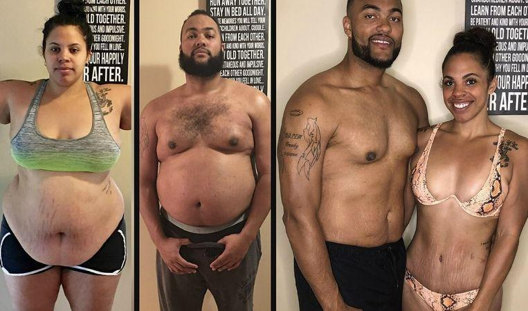 "Jasmine and Jeremy lose 100 kilos in one year: ""We wanted to set a good example to our daughters"""