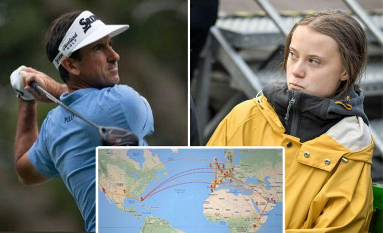 Golfer compares Greta Thunberg to Hitler and boasts about 50 flights