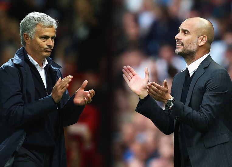 Mourinho and Guardiola.