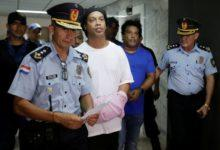 Ronaldinho is in cell with TV and fan, but he leaves the prison food