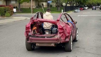 This Tesla is a total loss, but still drives like a charm
