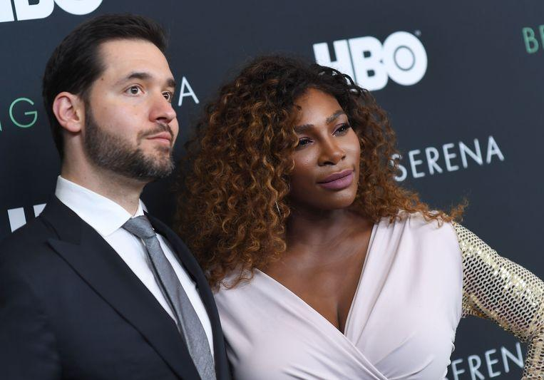 Alexis Ohanian with wife Serena Williams during the premiere of the documentary 'Being Serena'.