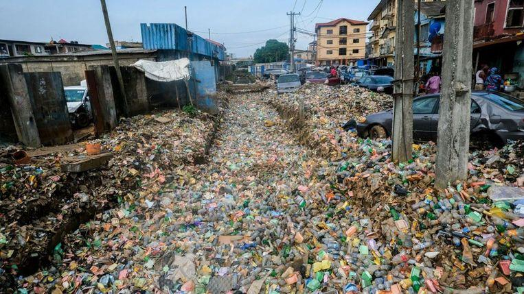 Lagos flooded with waste after heavy rainfall [Photos]