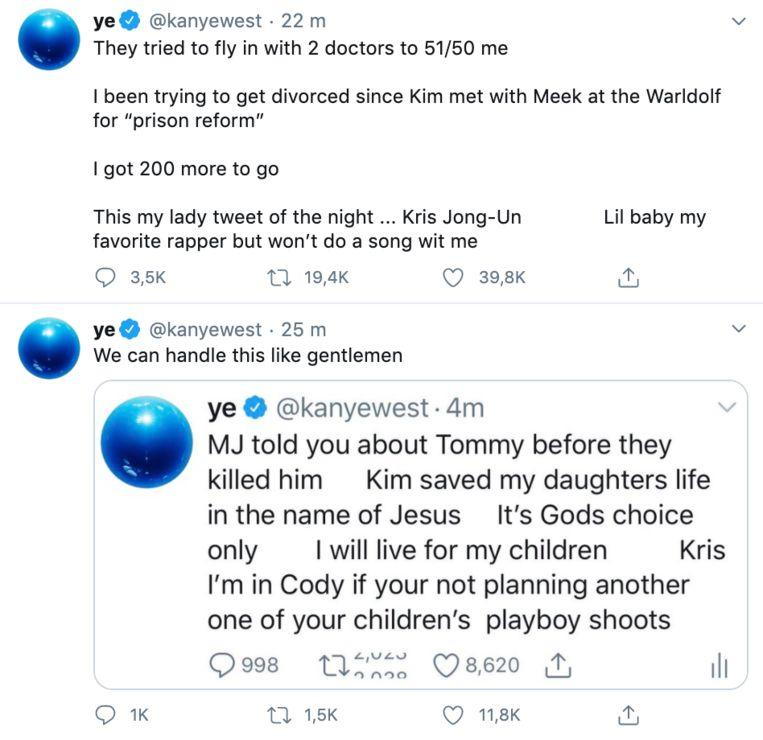 Twitter Kanye West posted a series of strange tweets online again on Tuesday night.