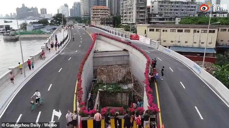 This is what happens when you refuse to move for the construction of highway in China