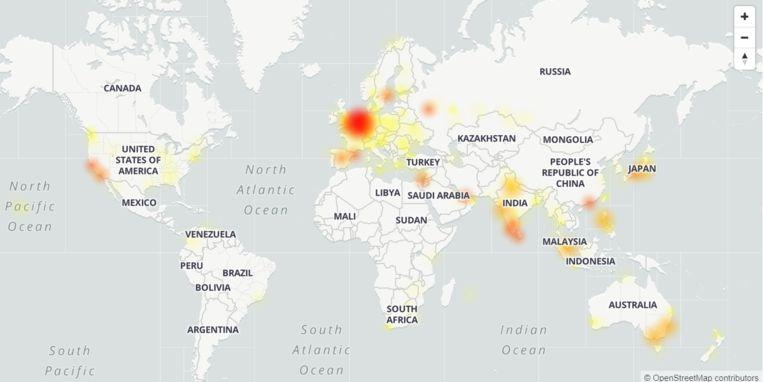DownDetector The problems with Gmail are worldwide.