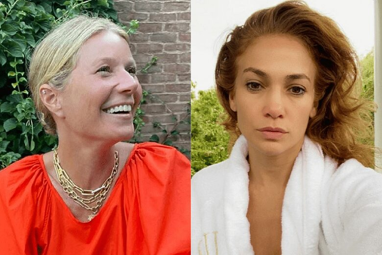 From J.Lo to Lady Gaga, female stars are posting photos without makeup