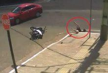 Accident never comes alone: woman swallowed up by pit after collision