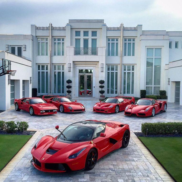 British golfer Ian Poulter apparently has enough money for a Ferrari collection.