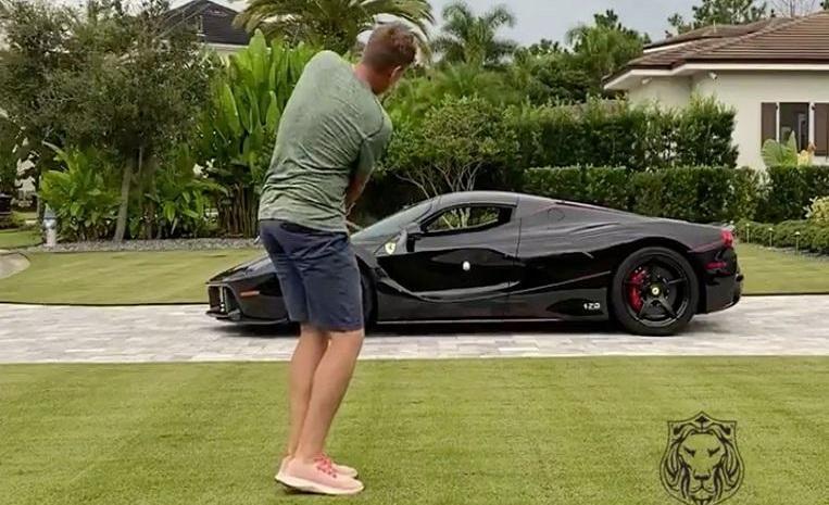 Golfer tries to hit ball through his $4.5 million Ferrari