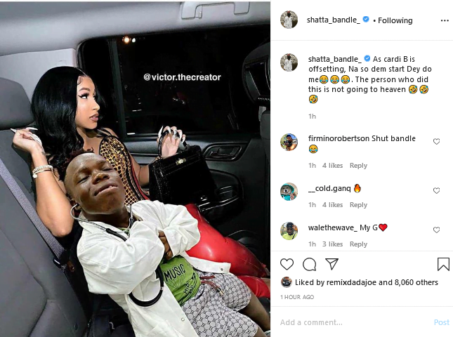 Will he succeed or dreaming? Shatta Bandle sets her sights on Cardi B