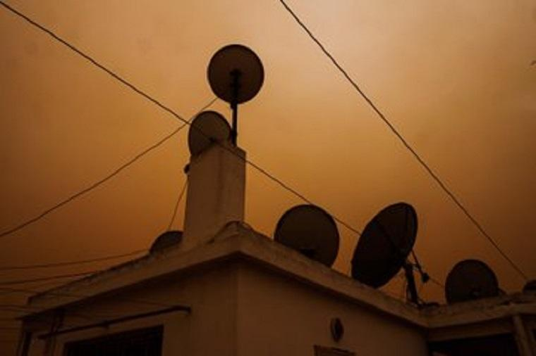 End time or weather? In Morocco, Sky turns to orange color