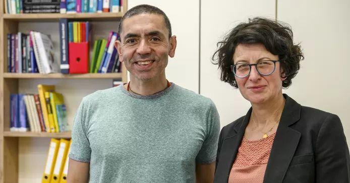 Ugur Sahin and his wife Ozlem Tureci