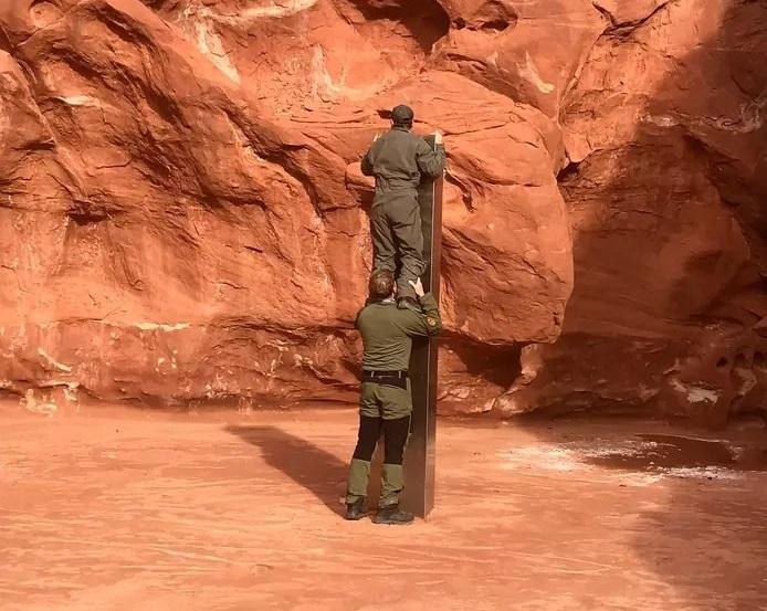Steel monolith discovered in Utah, USA