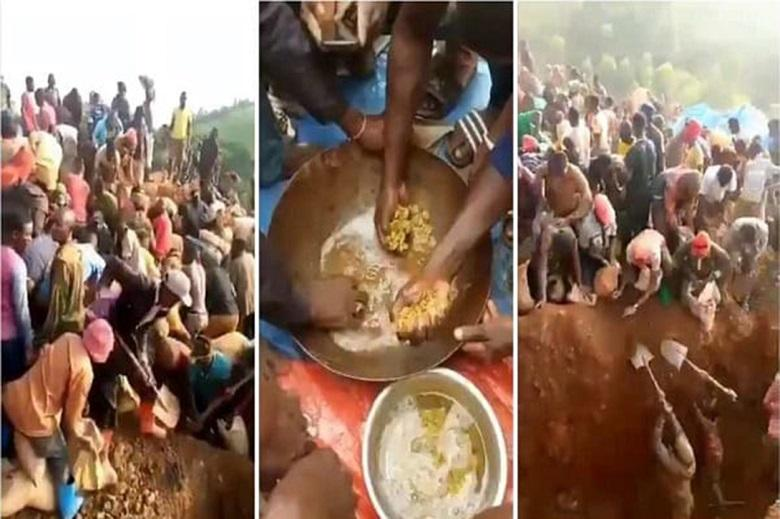 The discovered mountain of gold in Congolese village
