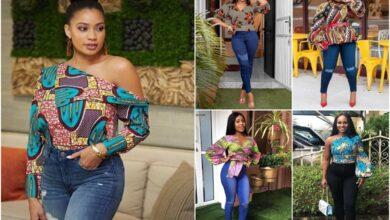 Ankara tops on jeans: Trending Ankara tops styles for the year