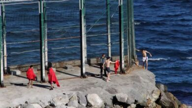 More than eighty migrants have reached the Spanish port city of Ceuta from Morocco by swimming. The migrants were arrested when they entered Spanish territory