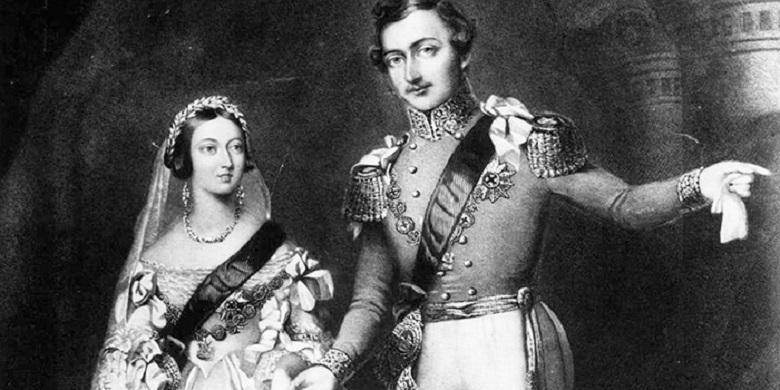 Queen Victoria and Prince Albert's wedding
