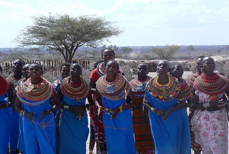 Oppressed African women have found shelter in a village where there are no men