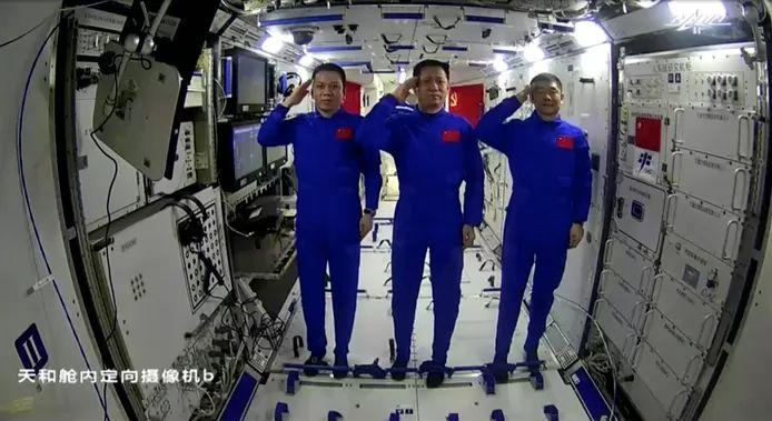 Taikonauts Nie Haisheng, Liu Boming and Tang Hongbo will stay in the space station for three months