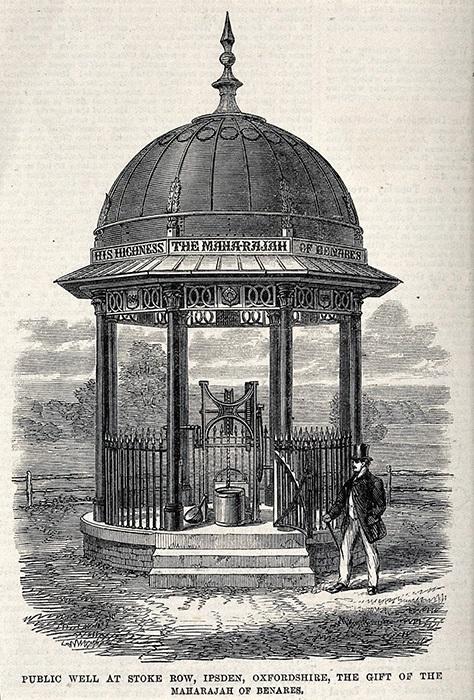 Maharaja Benaras Ishri Pershad Narayan Singh decided to finance the construction of the well
