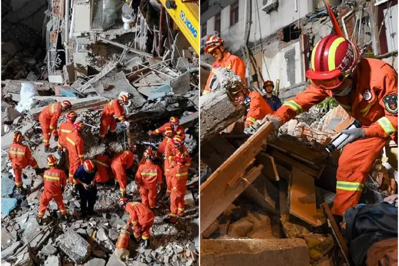 Hotel in China collapsed: at least 8 dead, dozen injured