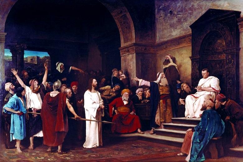 Jesus Christ at the trial of Pontius Pilate