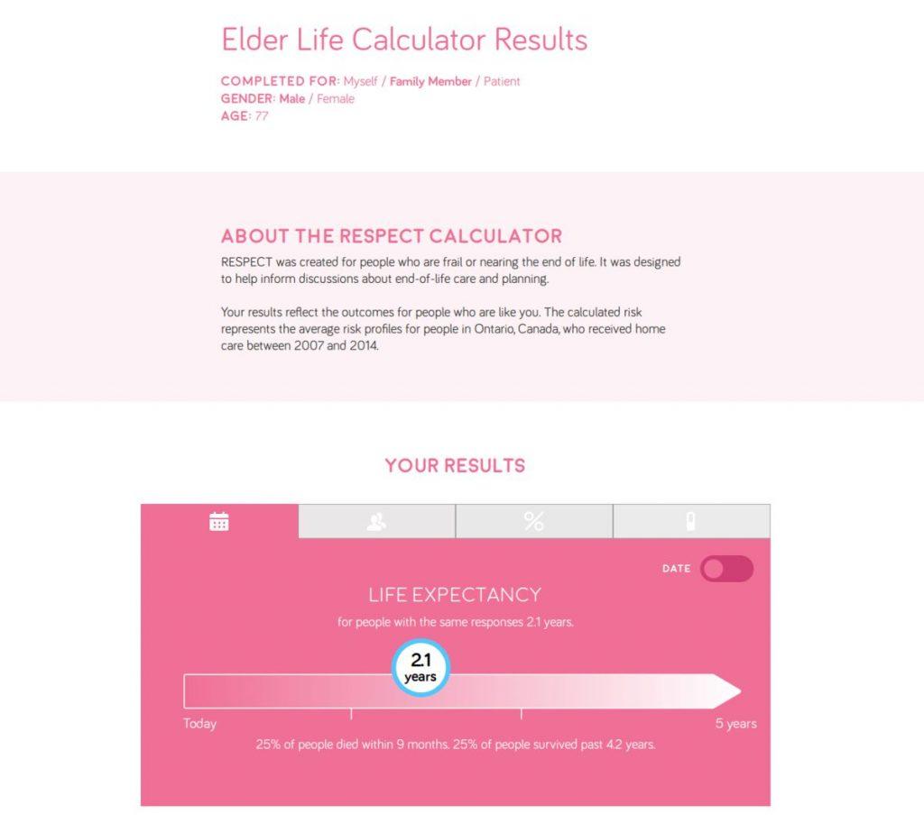 Elderly Life Calculator