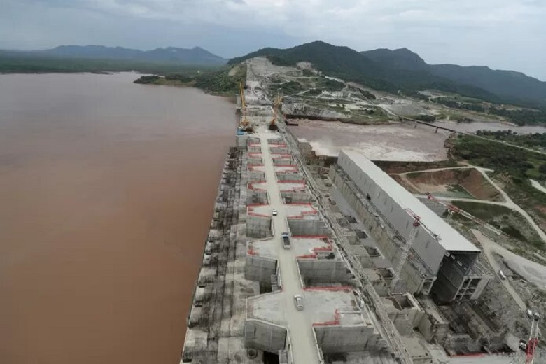 The Renaissance Dam on the Nile in Ethiopia.
