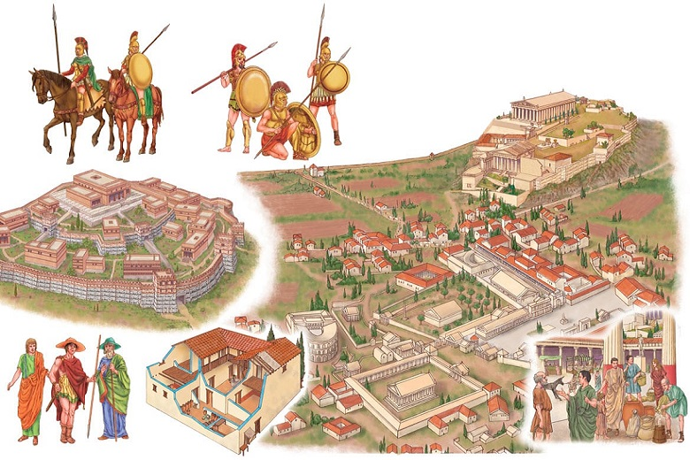How ancient city was organized, and why no such in modern world
