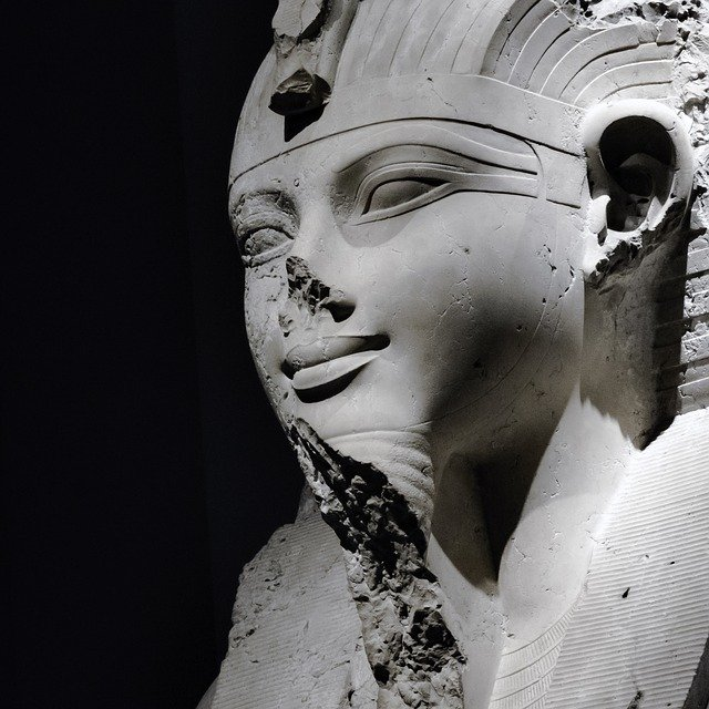 Why were the noses removed from Egyptian statues