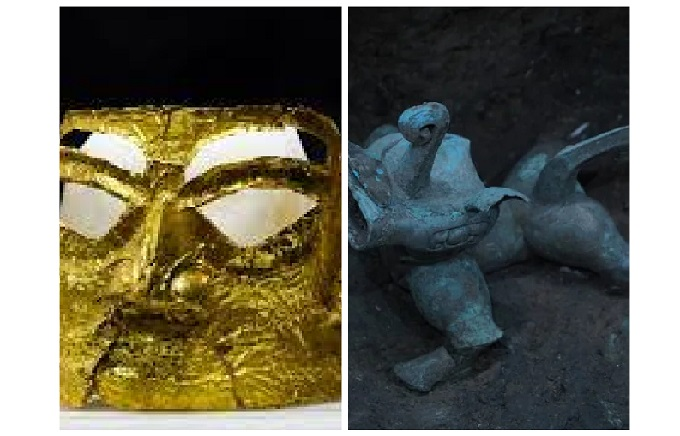 What secrets were discovered by scientists about unique relics recently discovered on the ruins of a 5,000year-old city in China