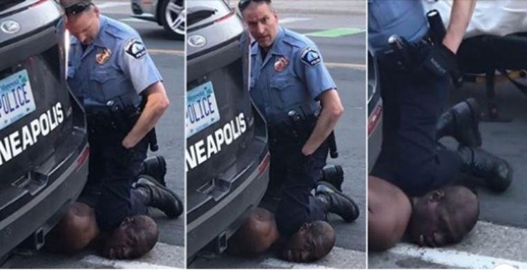 """I can't breathe"": Black man dies after agent kneeling on his neck"