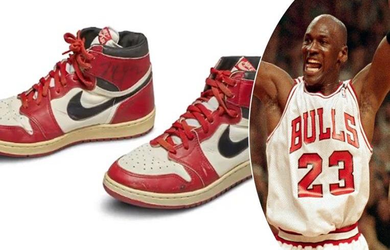 Michael Jordan basketball shoes yield a record amount